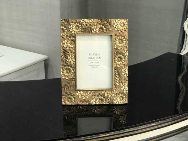 Gold Floral Picture Frame