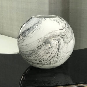 Marble Design Glass Vase